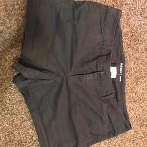 Old navy black pixie shorts size 12